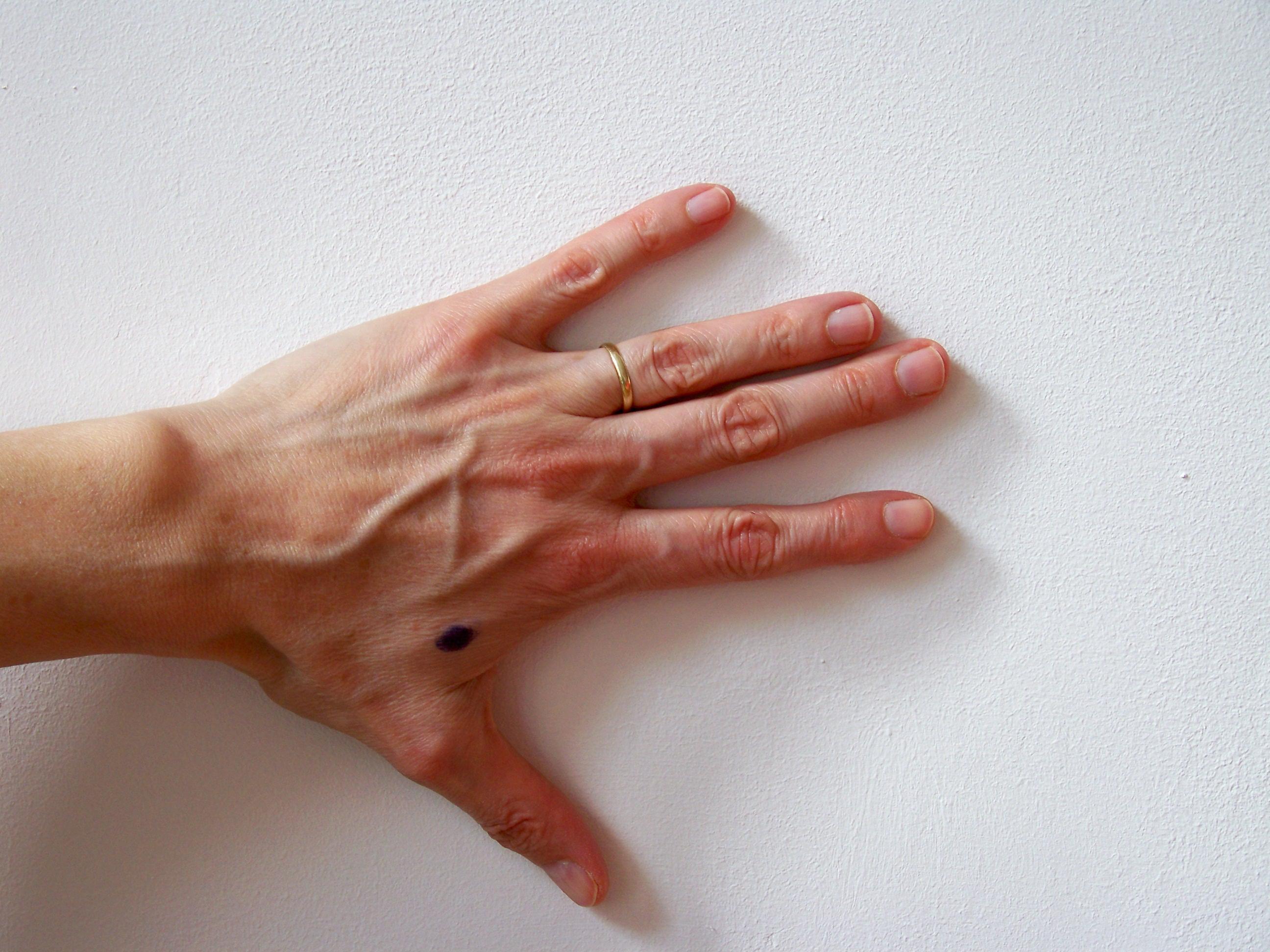 duim met wijsvinger