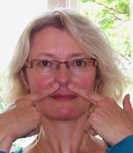 Dit acupressuurpunt werkt goed als je last hebt van een verstopte neus.