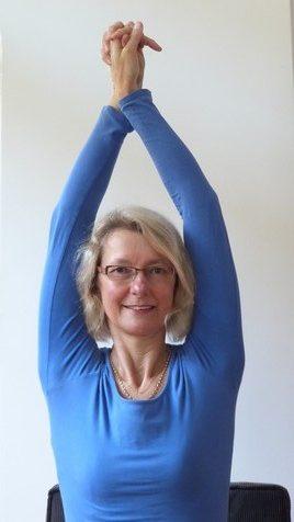 Yoga-oefening bovenrug
